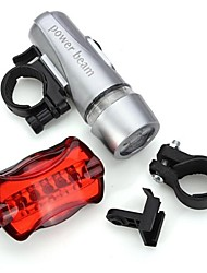 Bike Light,LS090 5 LED Torch Bike Bicycle HeadLight Headlamp Front Light + 5 LED Rear Light,Safety