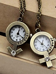 Couple's Gender Symbol Style Alloy Quartz Necklace Watch Cool Watches Unique Watches