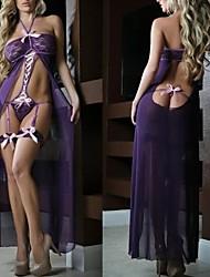 partido camisola vestido de renda longo lingerie babydoll sleepwear um tamanho das mulheres