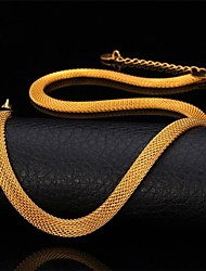 Fancy New Chunky Net Chain Necklace 18K Gold Plated Stainless Steel Choker Necklace for Men Women High Quality