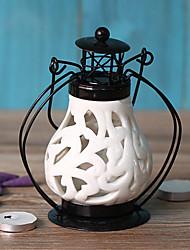 style chinois évidé bougeoir en céramique