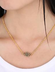 Unisex's Fashion Love Knot Pendant Alloy Pendant Necklace(Silver,Golden)(1 Pc)