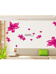 Wall Stickers Wall Decals, Style Light Love Lily PVC Wall Stickers