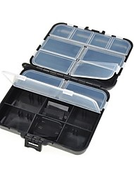 Outdoor Fishing Black Plastic Tackle Box + DX025