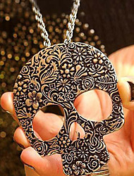 Women's Person Cranial Head Sweater Necklace