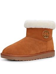 botas de los zapatos de la nieve de las mujeres del talón plana botines más colores disponibles