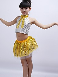 Girl's Modern Dance Sequined Costumes Clothing Set