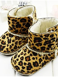 Baby Shoes First Walker  Flat Heel Cotton Snow Boots with Magic Tape