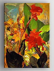 Oil Painting Modern Abstract Flower  Painting Hand Painted Canvas with Stretched Framed