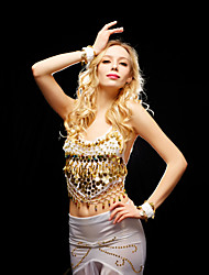 Belly Dance Tops Women's Training / Performance Tulle Beading / Sequins 1 Piece Sleeveless Top