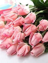 """branco pêssego rosa látex vermelho artificial romântico aumentou 6 peças / lote-tronco 14.95 """"para o casamento e decoração do partido"""