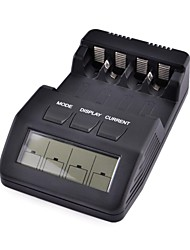 "BM100 2.5"" Intelligent Digital Battery Charger LCD Multifunction for 4PCS AA/AAA Rechargeable Batteries (Black)"