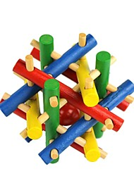 Colorful Wooden Toy Beads Escape Puzzle To Unlock