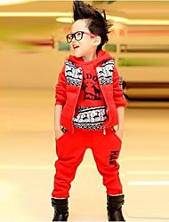 Boy's Fashion Leisure Three Pieces Clothing Set