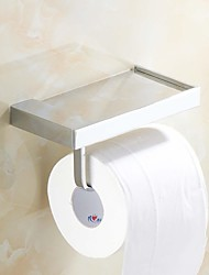 Chrome Finish  Brass Wall-mounted Toilet Roll Holder