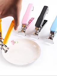 bunte Schüssel aus Edelstahl Spannvorrichtung, Edelstahl 17,2 x 12 x 2,5 cm (6,8 × 4,8 × 1,0 Zoll) zufällige Farbe