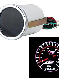 "2"" 52mm EGT Exhaust Gas Temp Gauge Meter White LED Car Motor Universal Smoke Lens Indicator"