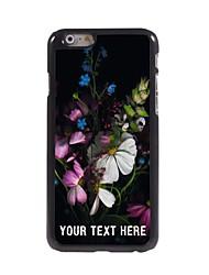 caso de telefone personalizado - flores caso design de metal para o iPhone 6