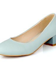 sapatos femininos bombas toe calcanhar robusto rodada sapatos mais cores disponíveis