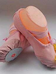 Non Customizable Kids' Dance Shoes Ballet Fabric Flat Heel Green/Yellow/Pink