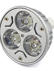 GU5.3 3 W 3 High Power LED 300 LM Warm White/Cool White MR16 Decorative Spot Lights DC 12/AC 12/AC 24/DC 24 V