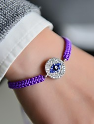 Fashion Women Evil Eye Plaited Bracelet
