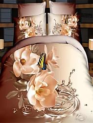 3d literie d'impression douillette pleine couettes de lit de taille housse de couette de couette drap de lin couvre-lit