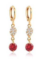 Woman's Fashion Gold Micro Crystal Pendant Inlaid CZ Ear Clip