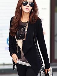 venta caliente de las mujeres de todo partido cuello irregular cremallera ocasional outwear