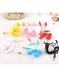 GOFO limone forma 3.5mm con il microfono per il iphone iphone 6 6 plus / 5s / 5 / 4s / 4 (colori casuali)
