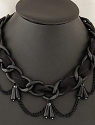 Европейский стиль кружева капель металла темперамент ожерелье