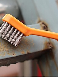 Gas stove Cleaning Steel Brush With Scraper,Plastic+Stainless Steel 18×2.5×2.5 CM(7.9×1.8×2.0 INCH) Random Color