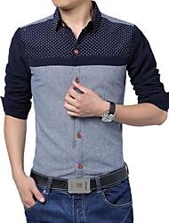 camisas de costura de la moda de los hombres