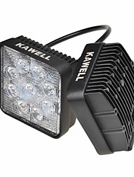 "KAWELL® 2PCS 4.2"" 27W Square Thin Type LED for ATV/suv/truck/car/atvs/fishing Driving Off Road Led Spot Work Light."