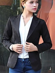 Women's White/Black/Yellow Blazer , Casual Long Sleeve