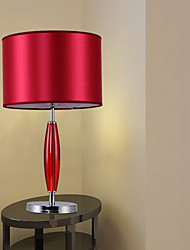 Modern Table Lamp Bedside Lamp In Red Shade