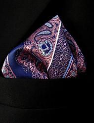 seda ocasional bolsillo floral multicolor plaza de los hombres