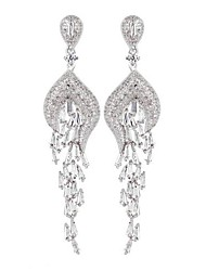 Elegant and Refined Fashion Peacock AAA Zircon EarringsImitation Diamond Birthstone