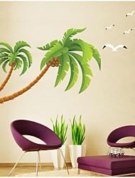 decalques de parede adesivos de parede, parede estilo coco pvc árvore adesivos