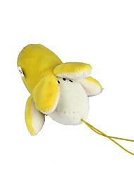 encantadores bonecos de banana de pelúcia com cordão