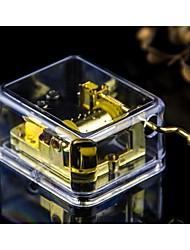 caixa de música transparente wind-up acrílico