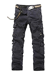 Men's Outdoors Multi-Pockets Loose Fit Overalls Combat Trousers