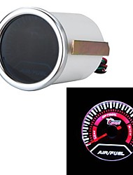 "2"" 52mm Smoke Lens Pointer Air/Fuel Ratio White LED Gauge Universal Car Auto Meter Car Styling Instrument"