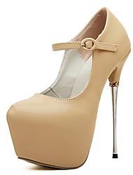 Scarpe Donna - Scarpe col tacco - Formale - Tacchi / A punta - A stiletto - Finta pelle - Nero / Beige