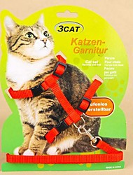 Adjustable Nylon PUre Colour Harness with Leash for Pet Dogs(Assorted Colours)