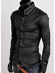 Big Fashion Men's Fashion Lattice Shirt