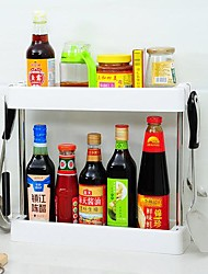 due strati shelf organizzazione cucina drenante con gancio, in acciaio inox, 40 * 5 * 36 centimetri (15,7 * 2 * 14inch)