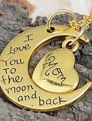 collier pendentif motif de maman de mode en alliage d'or des femmes (1pc)