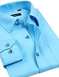 Men's Korean Large Code Gentleman Drill Shirts That Buttoned Shirt