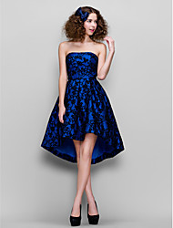 TS Couture® Prom / Company Party Dress - 1950s Plus Size / Petite A-line Strapless Asymmetrical Lace with Lace
